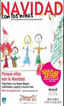 Navidad con niños en el Centro Comercial Príncipe Pío.