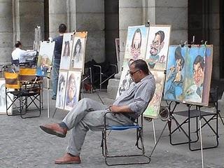 La Plaza de los Pintores de Madrid