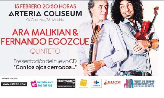 Concierto Ara Malikian y Fernando Egozque