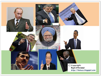 World Pointing at India