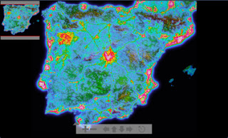 ESAC Astronomy Club: Simulated Light pollution map of Spain