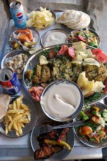 plate of lunch food cairo egypt