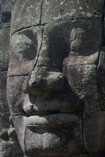 bayon temple angkor wat close up of a face