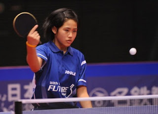 Suthasini Sawettabut - struggling with her game - but still a hero for the Asian Girls Team in Tokyo