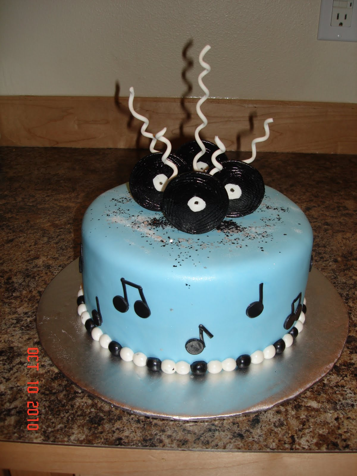Custom Cakes By Denise Music Birthday Cake