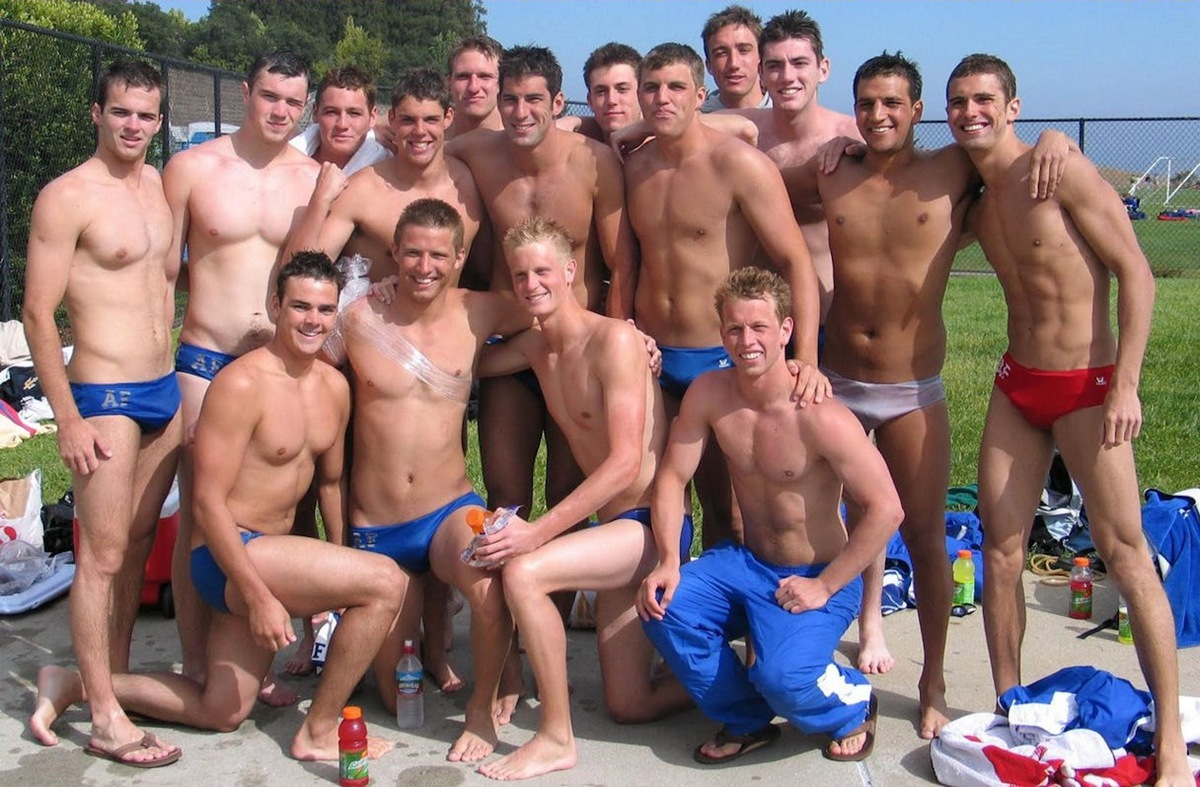 Nude college girls swimming