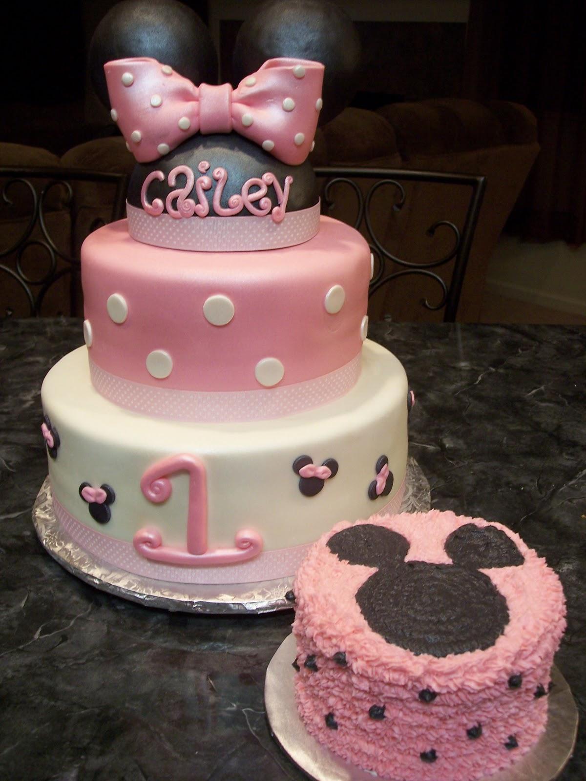 Mymonicakes Minnie Mouse Cake With Matching Smash Cake