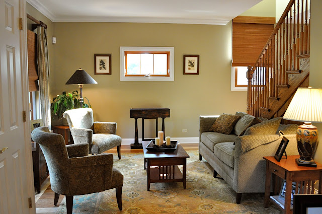 Furniture placement makes the livingroom look more open and inviting.