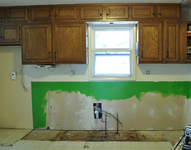 kitchen remodel before lower cabinets