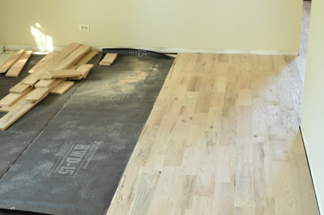 Plywood subfloor under wood floor