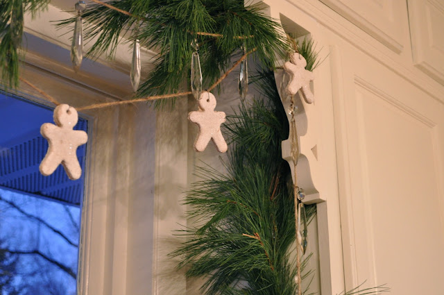 Salt dough gingerbread mean garland