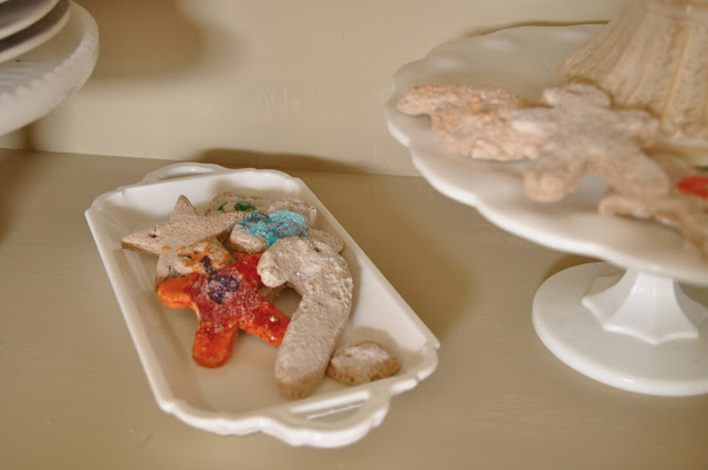 Make fake gingerbread scented salt dough cookies