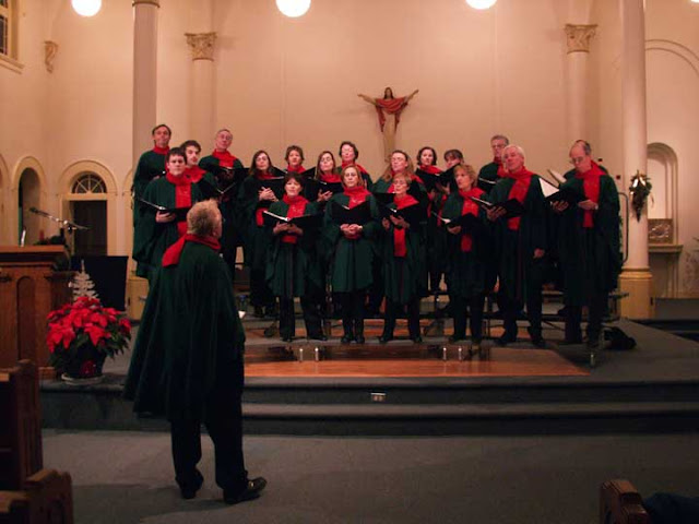 Dress rehearsal for the Stairwell Carollers 30th Anniversary concert