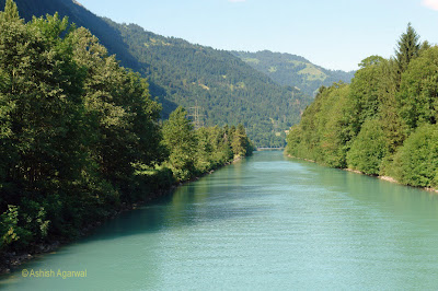 Narrow channel of water that connects Interlaken to Lake Thun