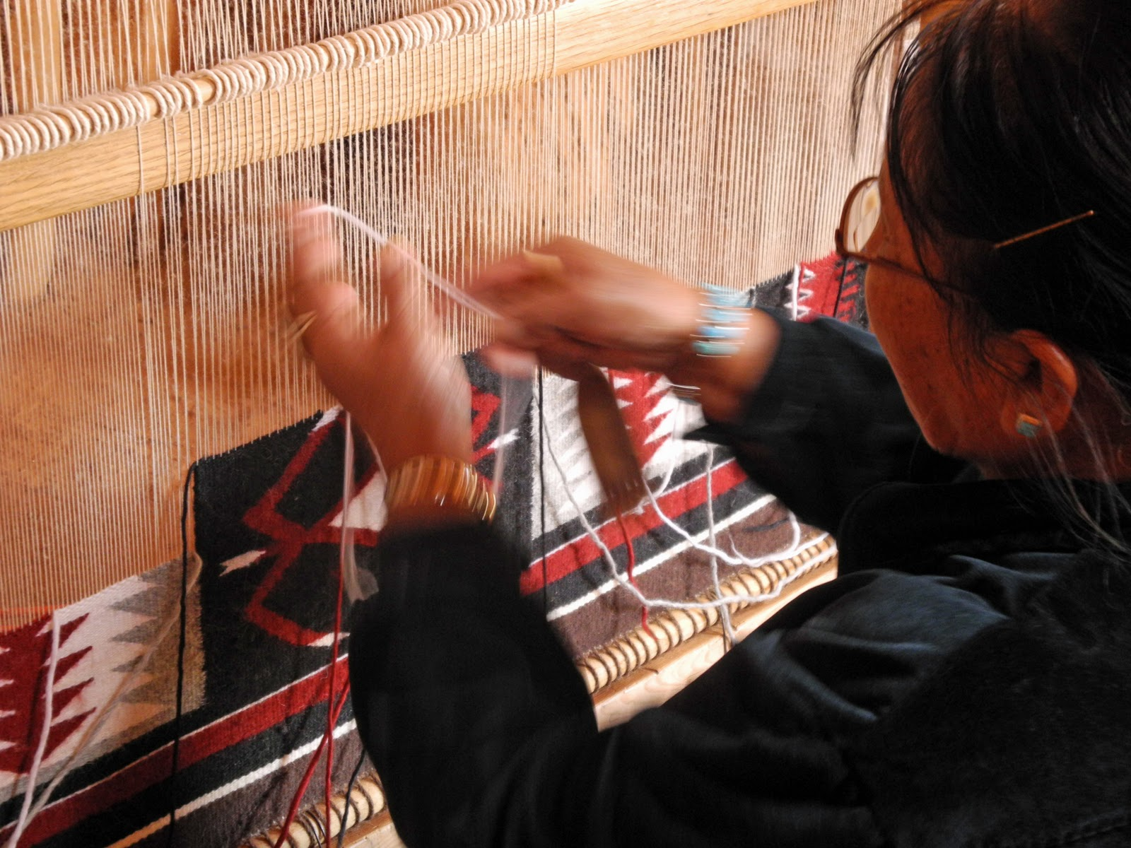 Written In Stone Seen Through My Lens Navajo Rug Making