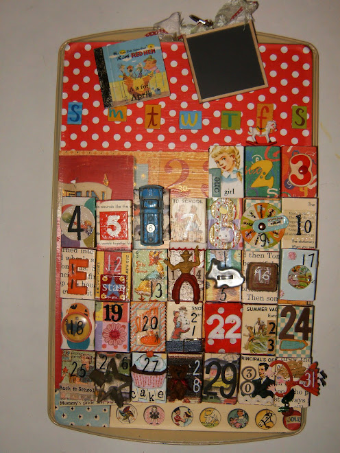 Vintage School Days matchbox calendar