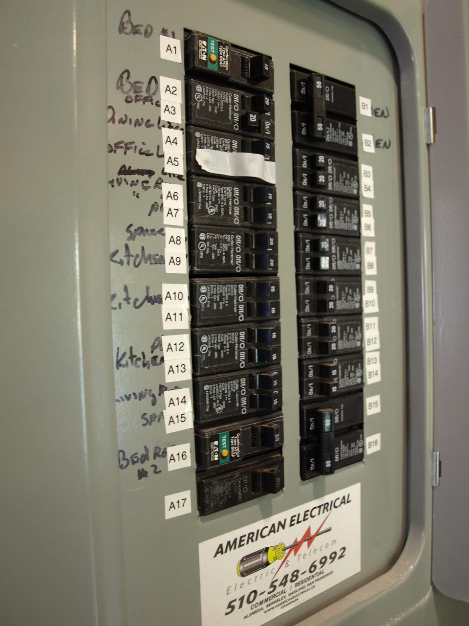 electrical panel label sheet
