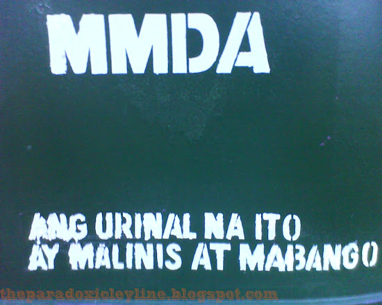 MMDA urinal is malinis and mabango.