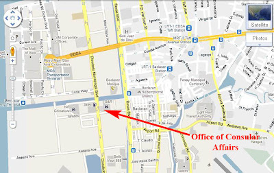 Location of DFA Consular Office
