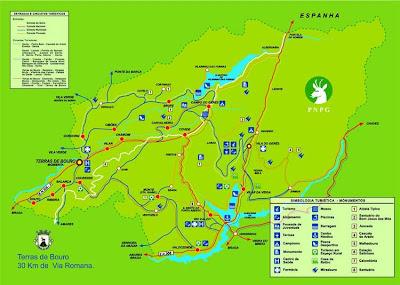 mapa para o geres Gerês: Mapa mapa para o geres