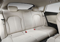 The New Audi A7 Sportback (2010) back interior