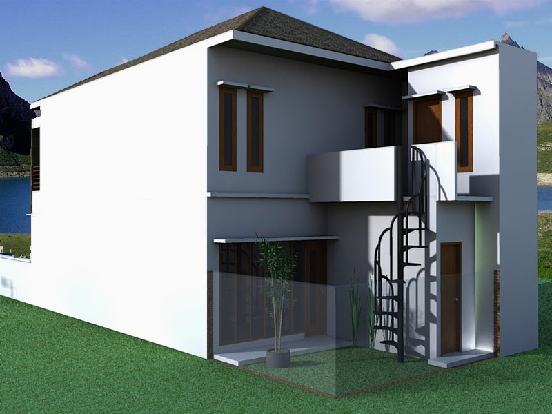 Kumpulan Desain Rumah Berkebun: Rumah minimalis di bilangan ragunan & Berrumah Minimalis: Rumah Minimalis Tampak Belakang