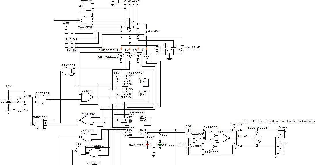 Schematic & Wiring Diagram: Electronic Locker Circuit