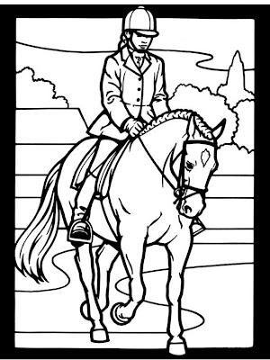 dibujos infantiles para colorear caballos