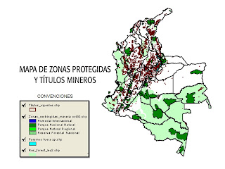 mapa de zonas protegidas y titulos mineros