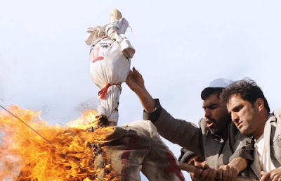 Geert Wilders effigy burning in Kabul