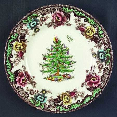 Although I Dont Have The Classic Spode Plate Above I Have This Version Called Christmas Tree Grove Also By Spode Same Tree In The Middle But The Rim Is