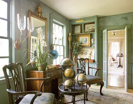 Vignette Design Decorating With Green