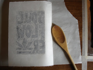 printing6 - Process: New Soul Flower Block Print Tee!