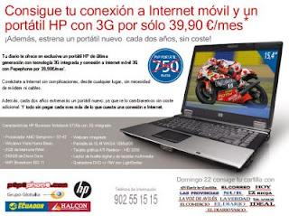 plan renove ordenador portatil HP pepephone internet