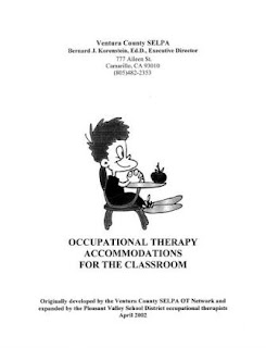 Occupational Therapy Accommodations for the Classroom