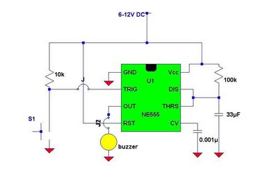 Simple Electronic Doorbell Circuit By 555 Timer Ic Simple Electronics