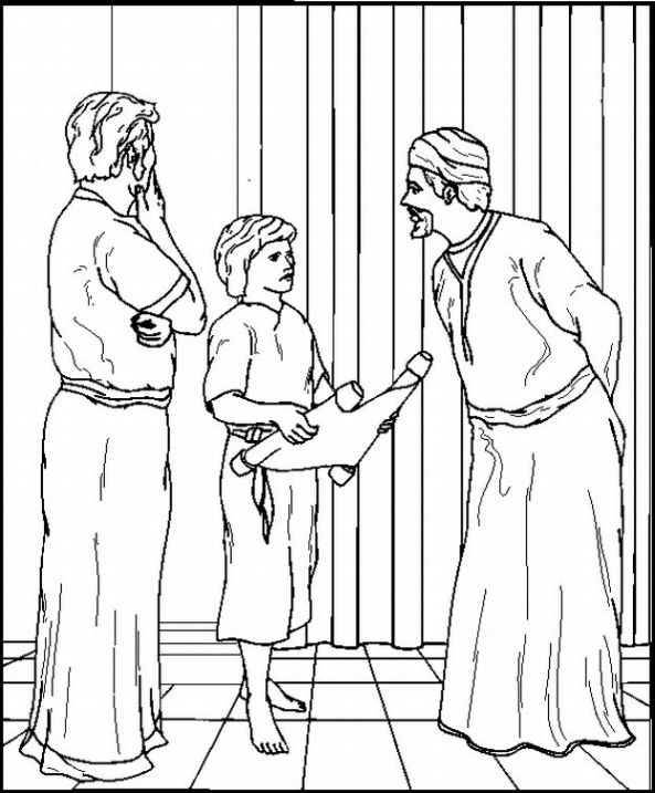 Jesus in the temple coloring pages ~ E JESUS CRESCIA... ( Apresentação de Jesus e Jesus no ...