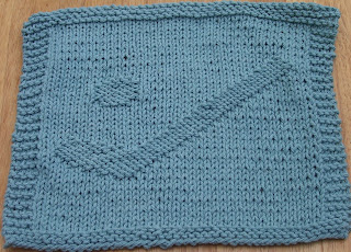 DigKnitty Designs: Hockey Stick & Puck Knit Dishcloth Pattern