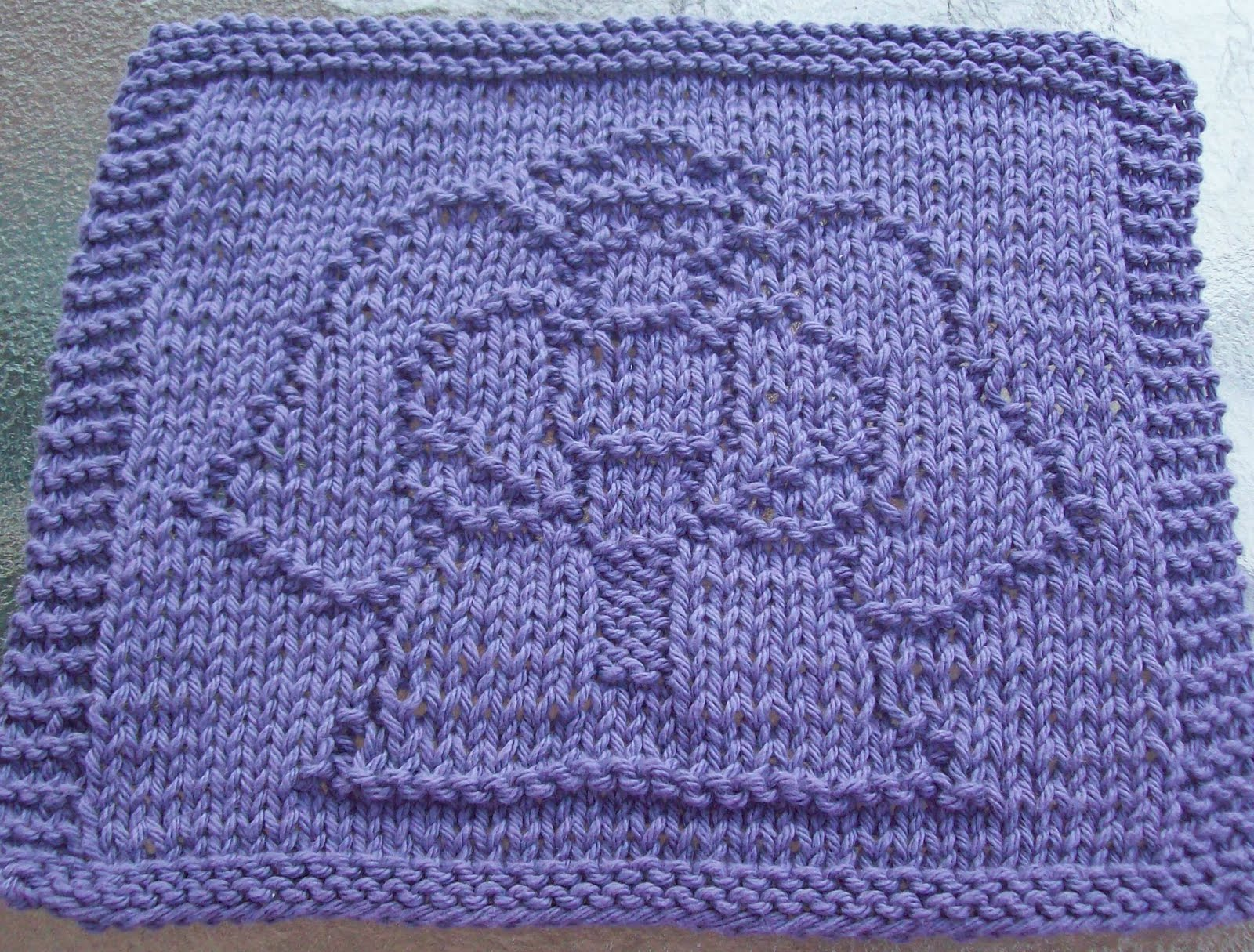 Knitting Pattern Design : DigKnitty Designs: Angel Knitting Knit Dishcloth Pattern
