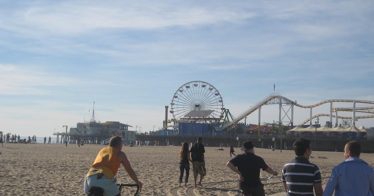 how far from santa monica pier to venice beach