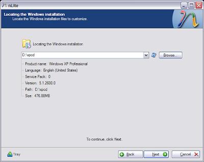 Nlite : Customise your Windows XP - Part 2 1
