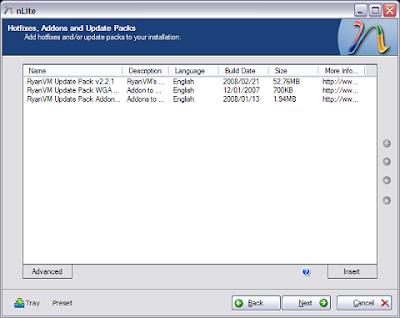 Nlite : Customise your Windows XP - Part 2 6