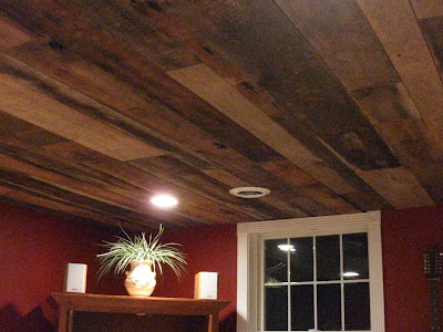 "paulajane- lovin' life in tennessee: Our ""Barnwood"" Ceiling"