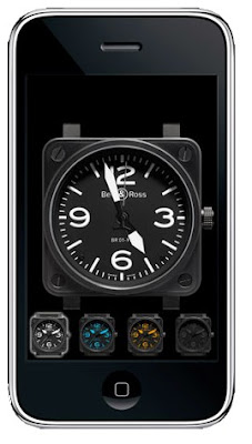 Montre Bell&Ross BR 01 sur Iphone