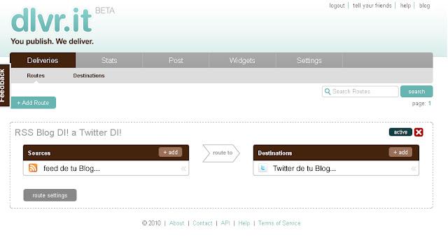 Dlvr.it - You Publish, We Deliver, herramienta para Bloggers