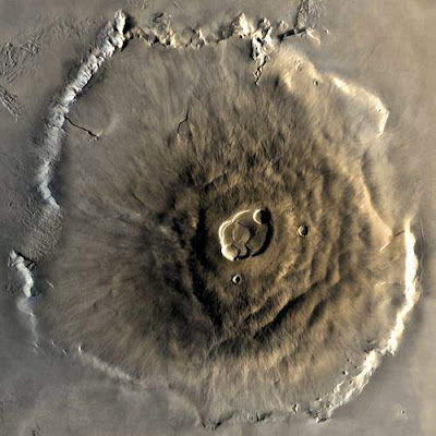Olympus Mons is seen from above