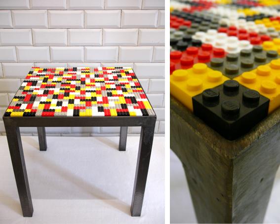 les traficoteuses table basse carr e lego. Black Bedroom Furniture Sets. Home Design Ideas