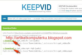 download video youtube keepvid