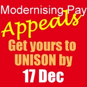 Get your Modernising Pay appeal in by 17 December
