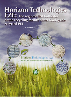 s Horizon Technologies past times Asfia Khan commencement appeared every bit the comprehend even inwards the Oct  Region's First Bottle-to-Bottle Recycling Facility Offers Food-Grade Recycled Plastic
